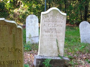 Lewis House Grave Site