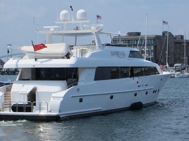 Yacht In Newport Harbor