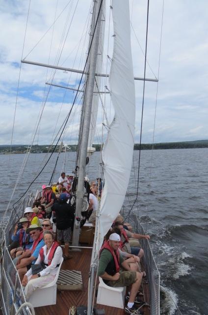Sailing On Baddeck Harbor