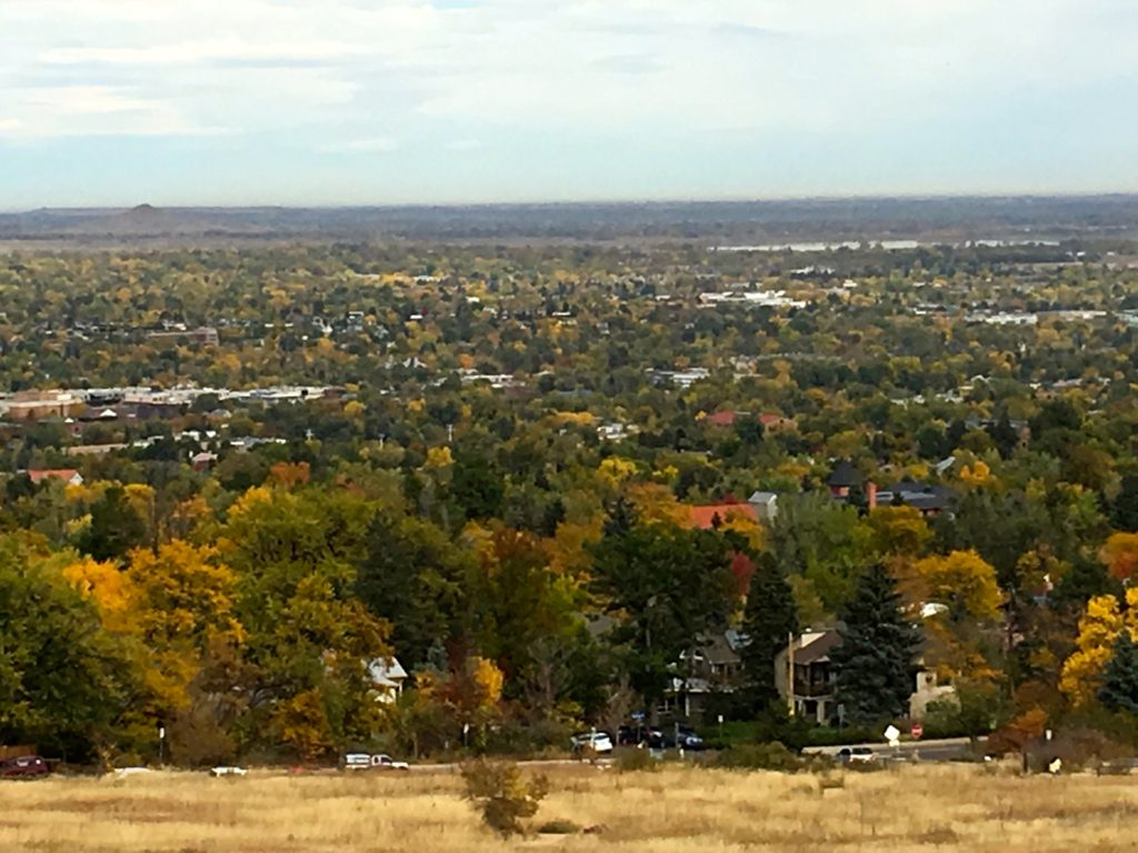 Flatiron Hike View Of Boulder